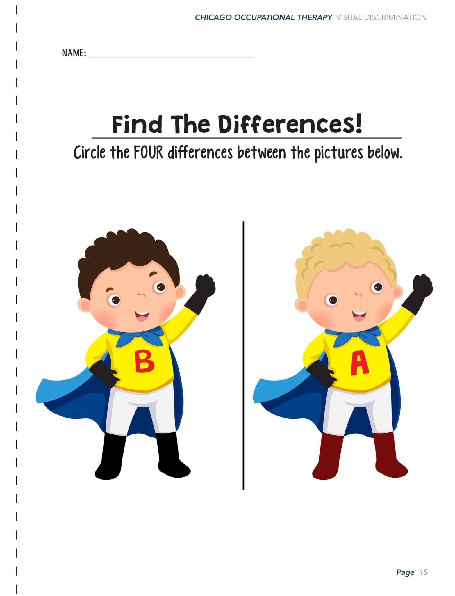 Visual Perceptual Activity Worksheets Avec Images
