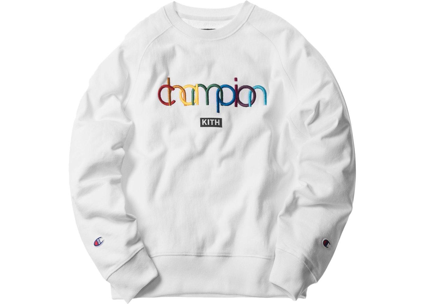 Kith X Champion Sweatshirts Kith White Sweatshirt [ 1000 x 1400 Pixel ]
