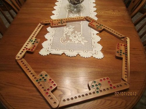 Pattern For Pegs And Jokers Game Board