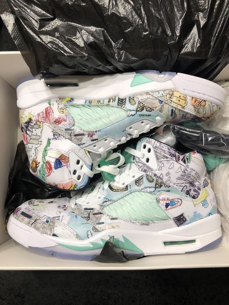 half off 8631e a7b1f Nike Air Jordan 5 WINGS SIZE RARE LIMITED SOLD OUT AUTHENTIC ...
