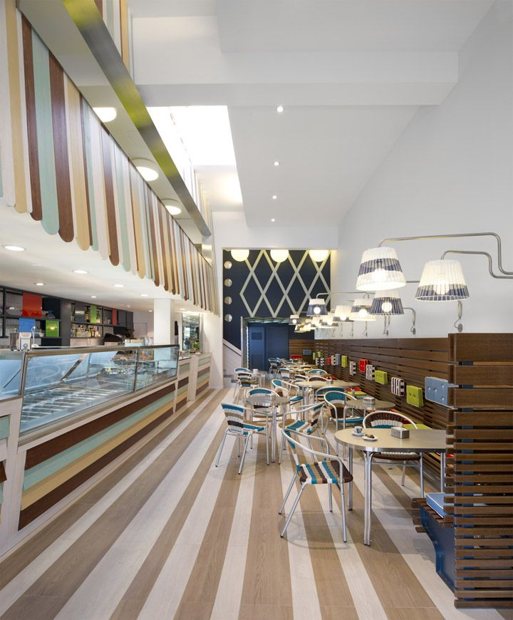 Possi Ice Cream Parlour By Antonio Gardoni Brescia Italy Retail Design Blog
