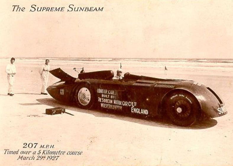 MILTON DAYTONA BEACH AUTO RACING SPEED RACERS POSTER SEGRAVE CAMPBELL DePALMA