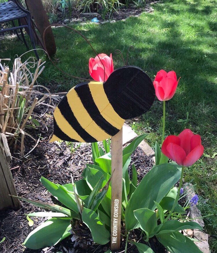 Bee Yard Stakes Spring Yard Stakes Wood Stakes Spring Outdoor