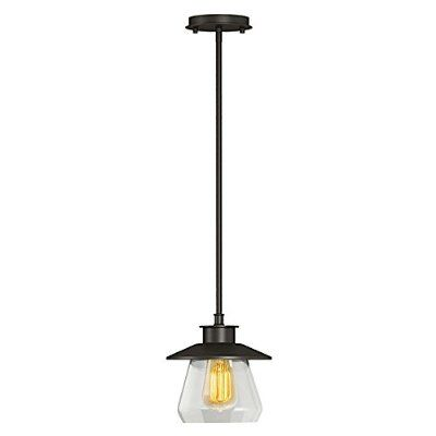 Globe electric vintage semi flush mount ceiling light oil rubbed bronze finish clear · home lightinglighting