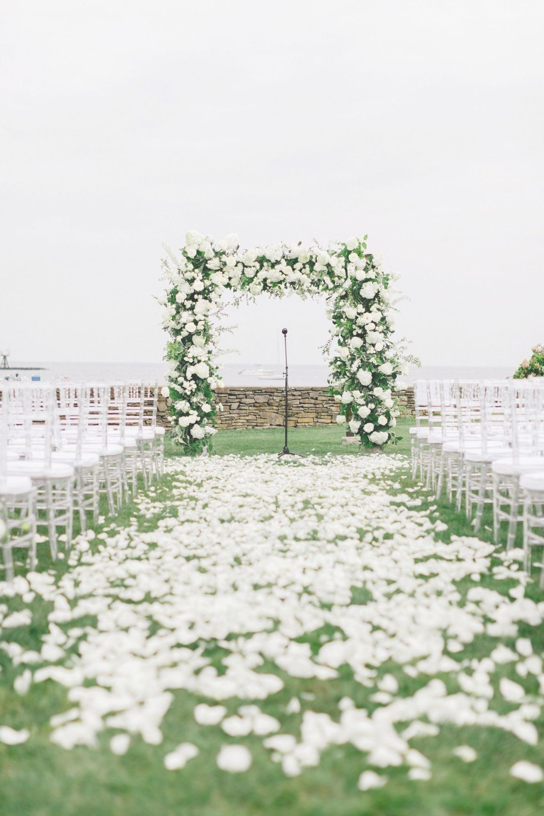 Morning Rain Made The Sand Too Wet For The Couple To Marry On The Beach As Planned So The Cere Late Summer Weddings Summer Beach Wedding Beach Wedding Flowers