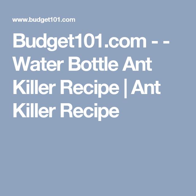 Budget101.com - - Water Bottle Ant Killer Recipe | Ant Killer Recipe