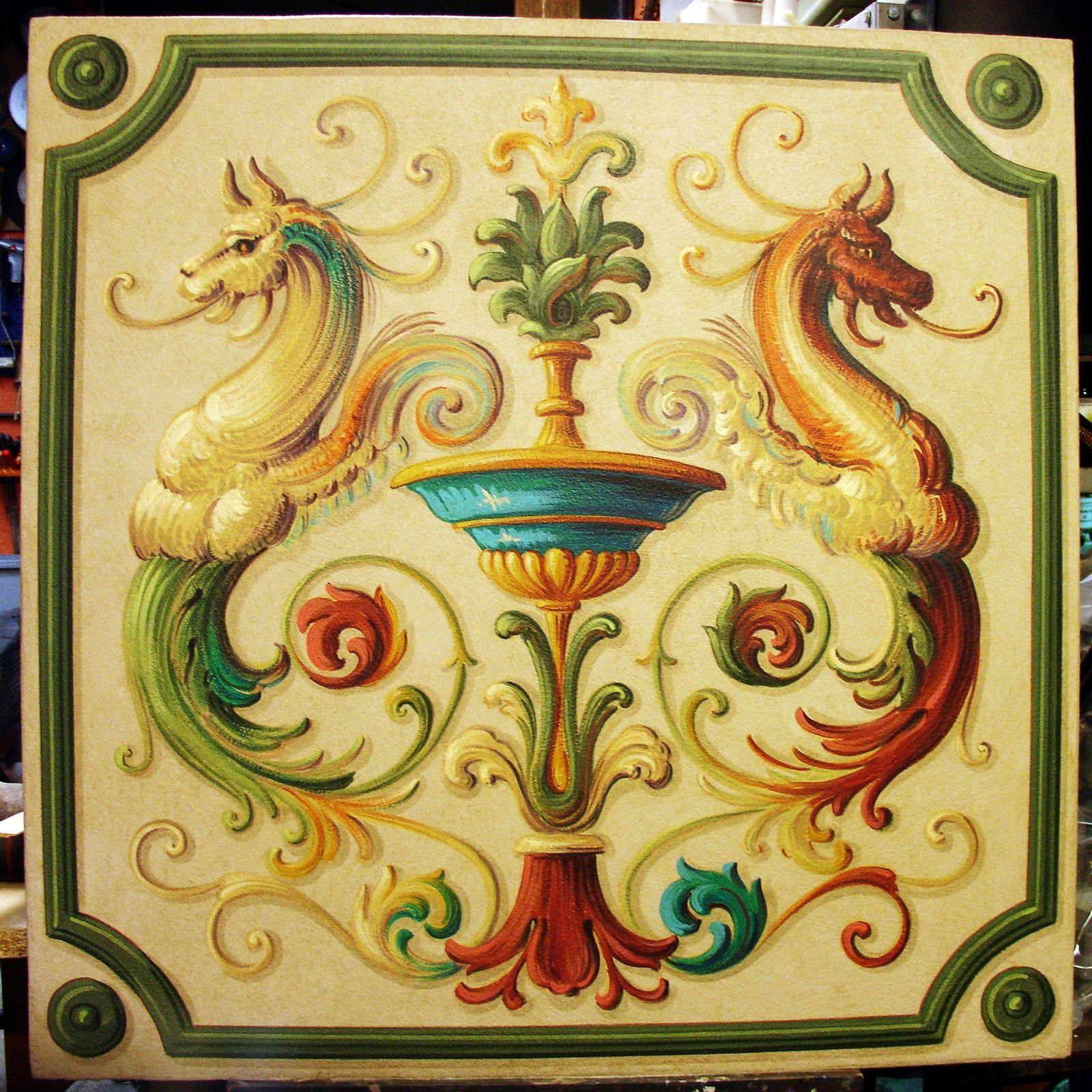 Grottesca grotesque baroque painting art e decorative for Arredamento artistico