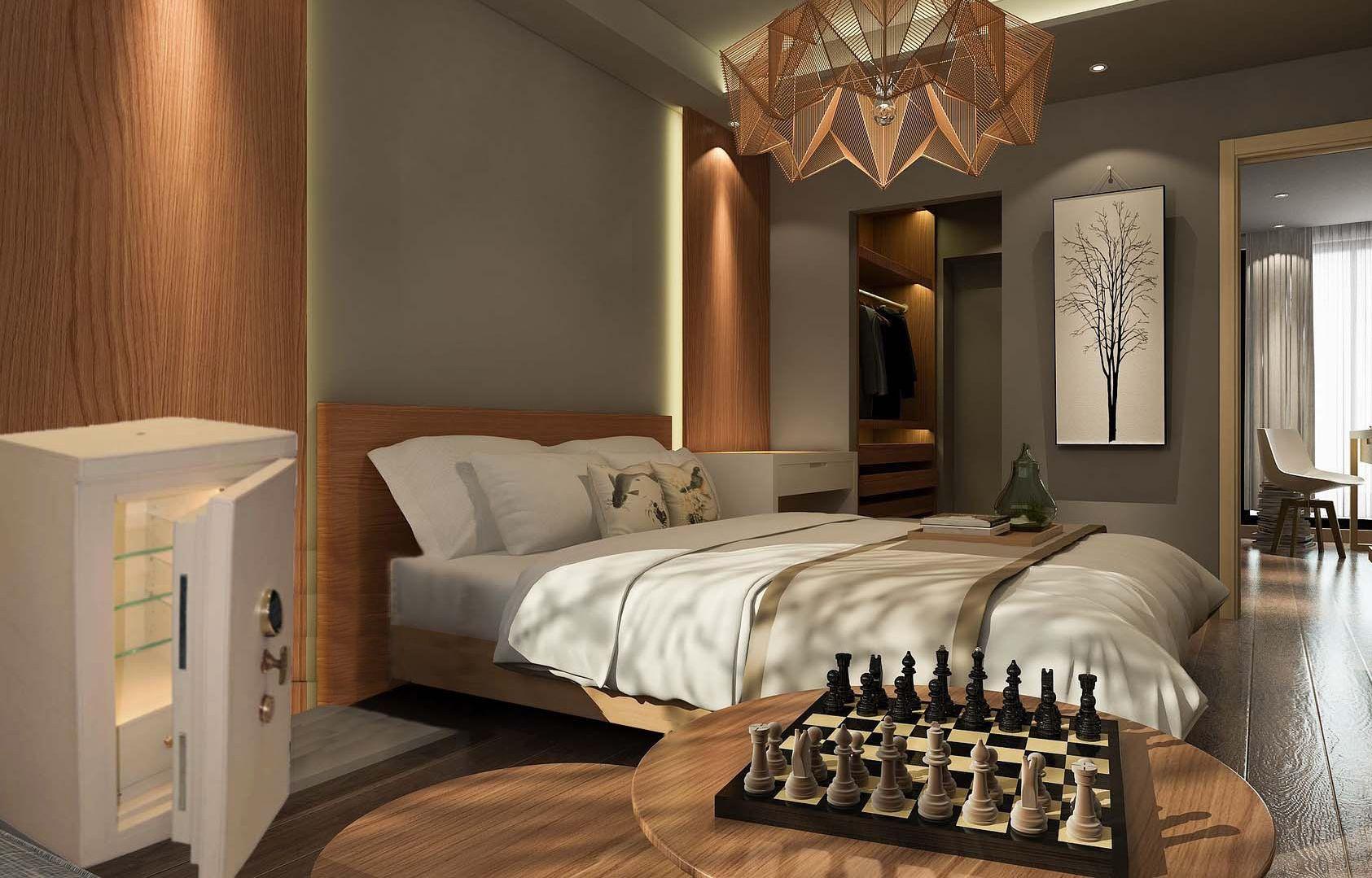 cassaforte di lusso in camera da letto Luxury safe in bedroom ...