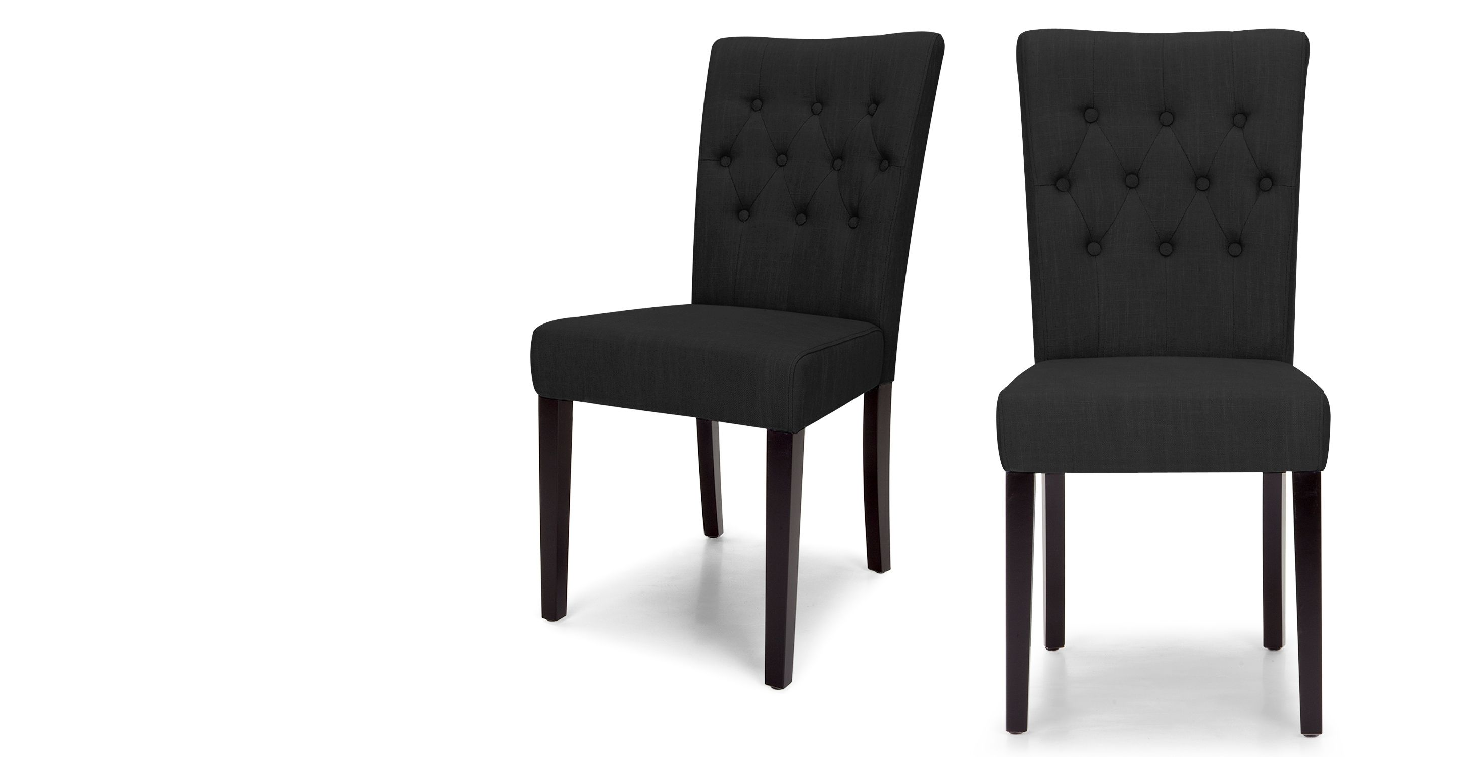 2 x flynn dining chairs, midnight black | kitchen ideas