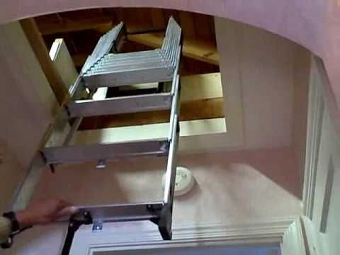 It Is Not Necessary To Install A New Drop Down Attic Door When Installing A  Compact Attic Ladder, As Long As The Existing Push Up Attic Door Will Clear  The ...