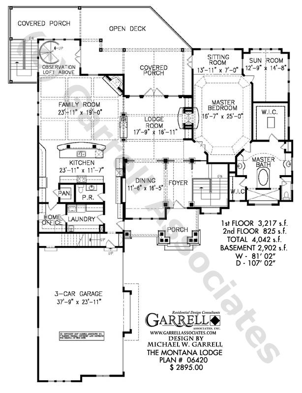 The Montana Lodge This Homeplan Offers A Walkout Basement And An Upstairs Studio Apartment House Plans Mountain House Plans How To Plan