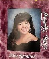 Sara Ramirez's high school picture, she still looks the same, beautiful smile.