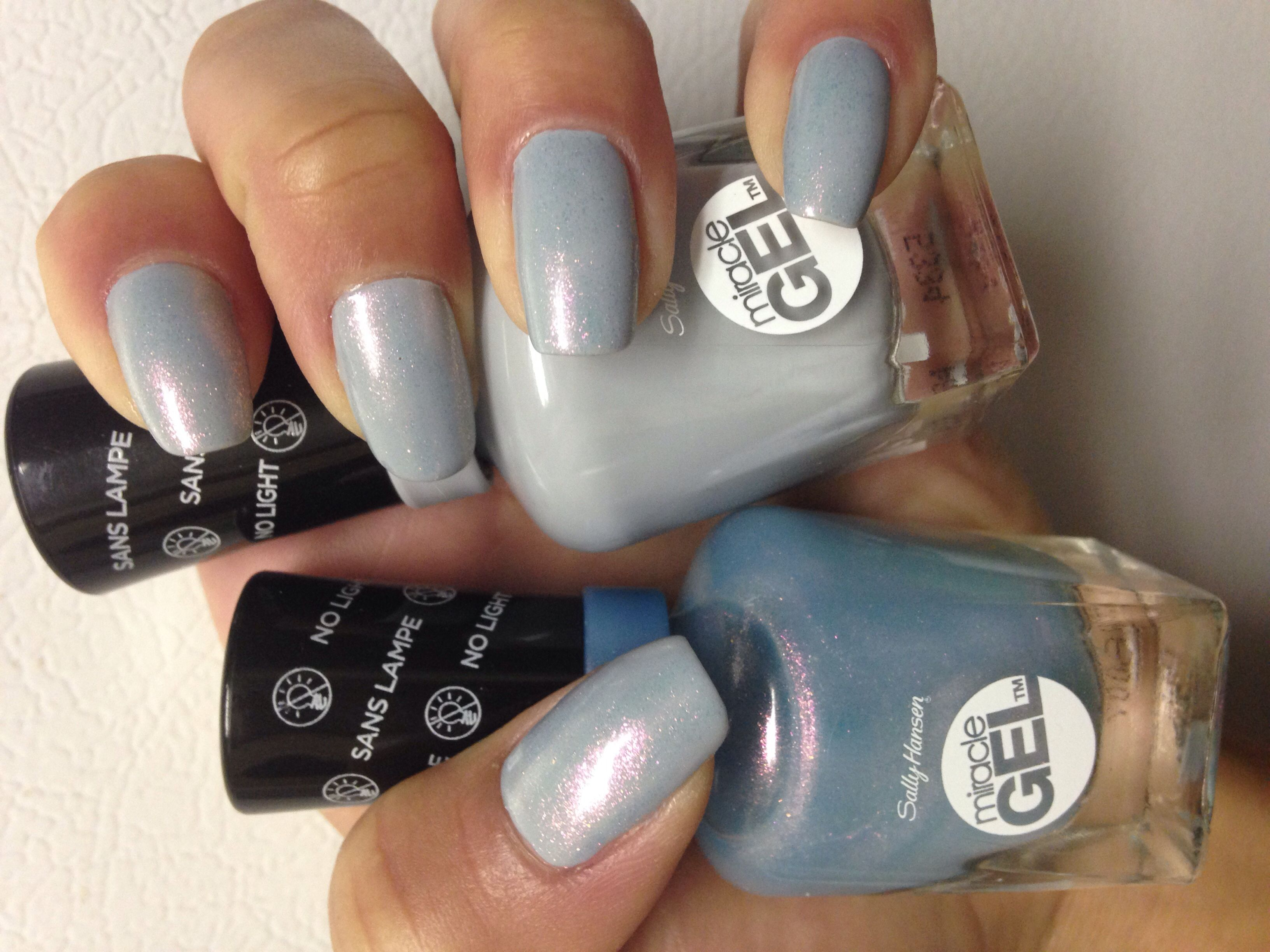 Sally Hansen gel nail polish in the colors Lets Get Digital and ...