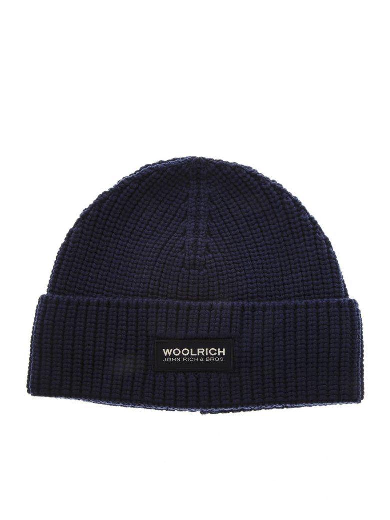 Woolrich Dark Blue Wool Hat - Dark blue 3fdb025605e4