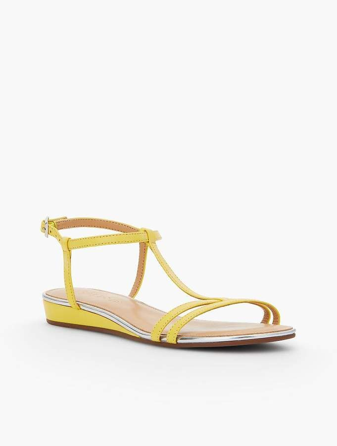 c1fa5af9c1b7 Talbots Daisy Micro-Wedge Sandals - Leather