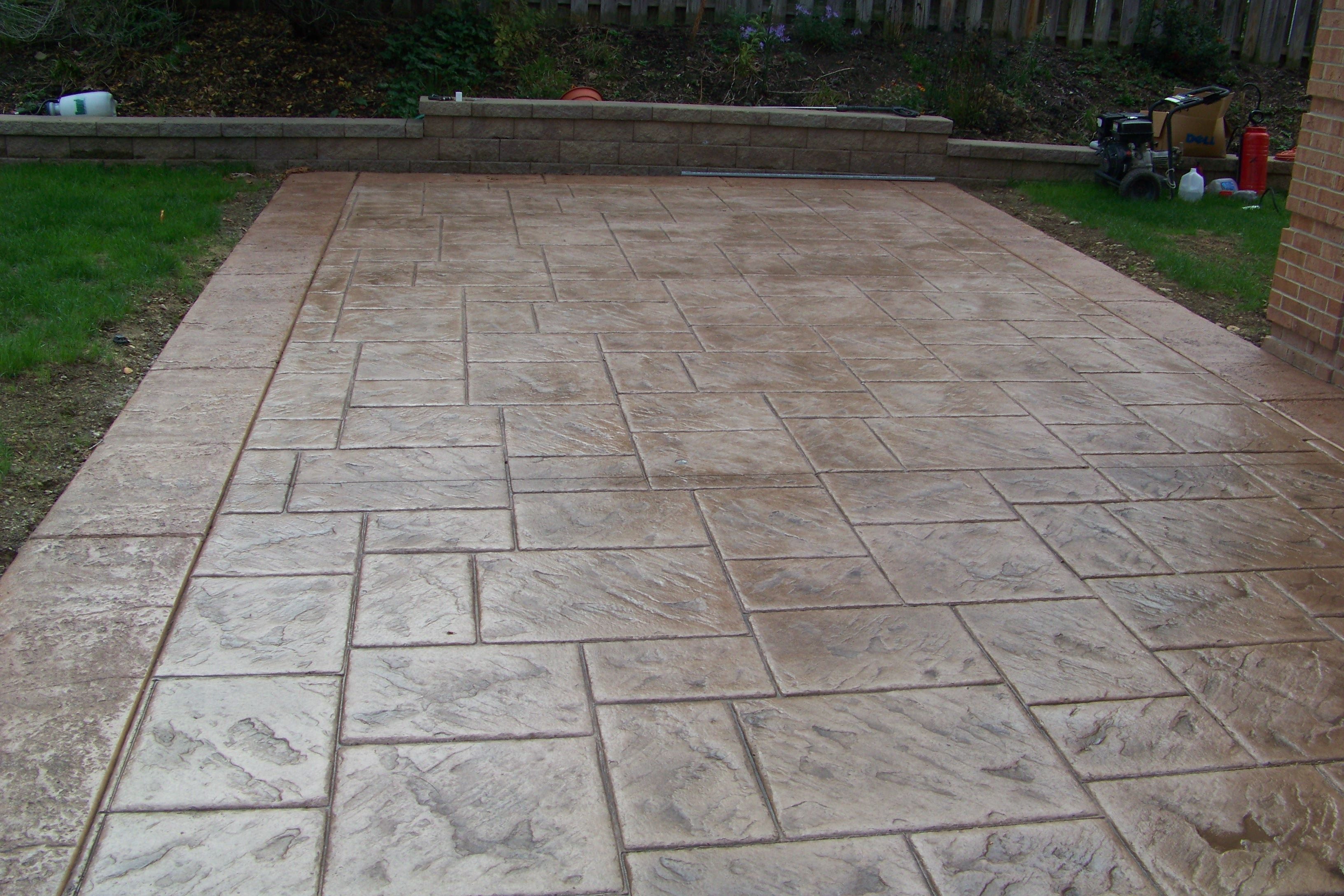 stone stamp patios Stamped Concrete KITCHEN