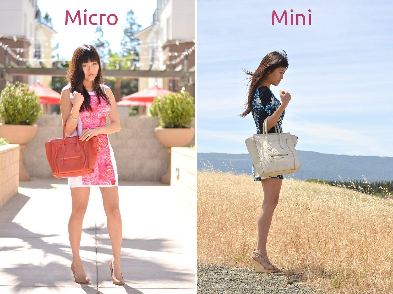 Celine designer bag mini compared to micro size difference in outfit ... 9424678e8e156