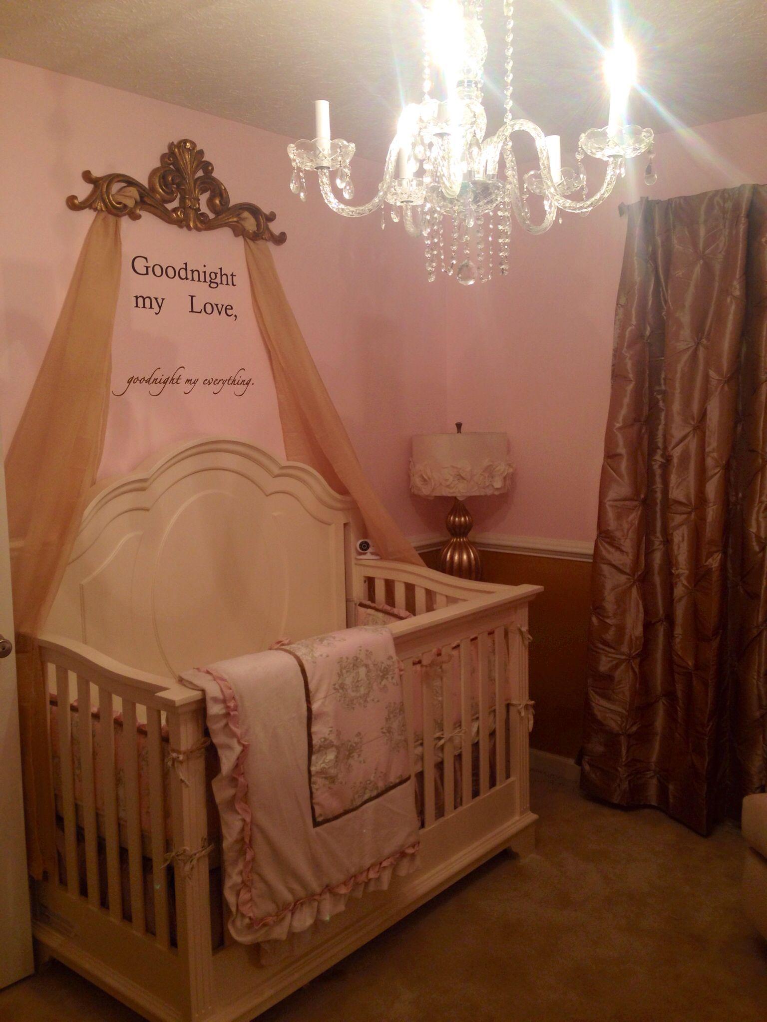 Pink Champagne Baby Girl Nursery