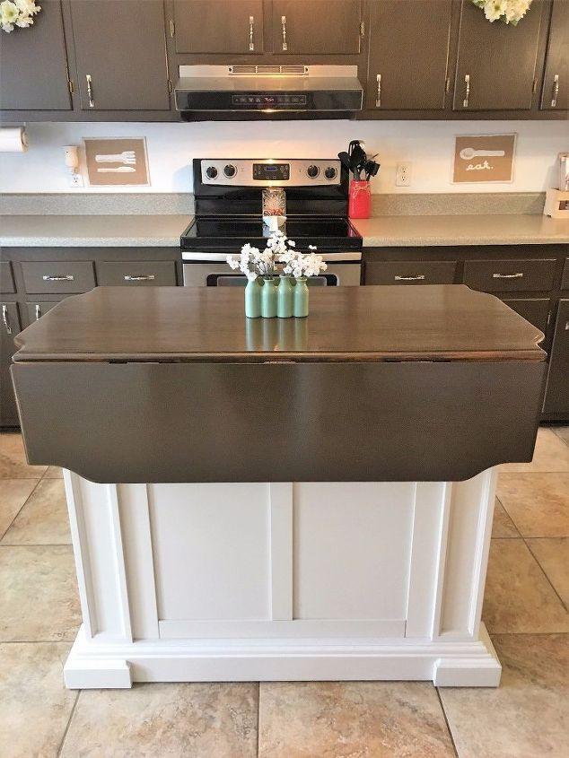 100 kitchen cabinet makeover plus new update diy kitchen island drop leaf kitchen island on kitchen island ideas diy id=96089