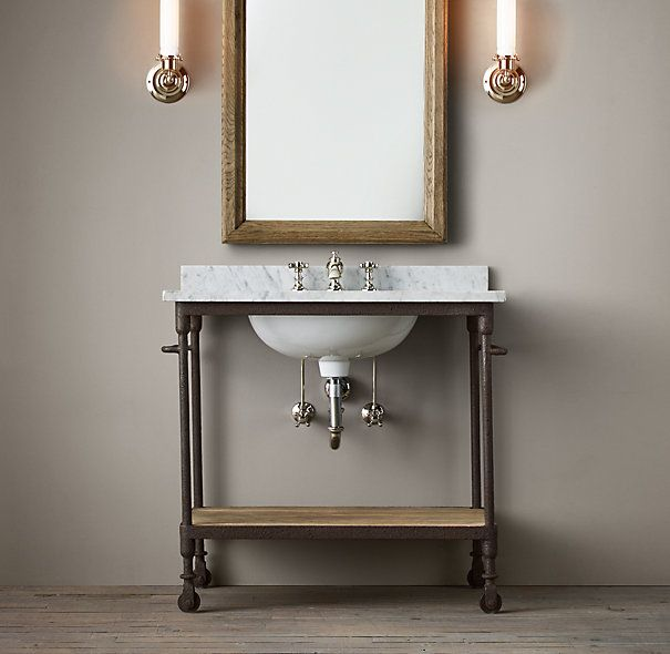 Industrial Vanity: Dutch Industrial Single Washstand