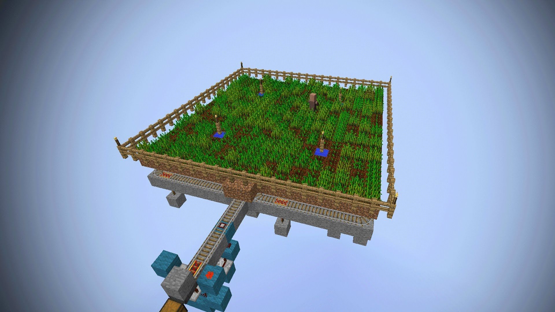 Minecraft Fully Automatic Wheat Farm using Villagers ...