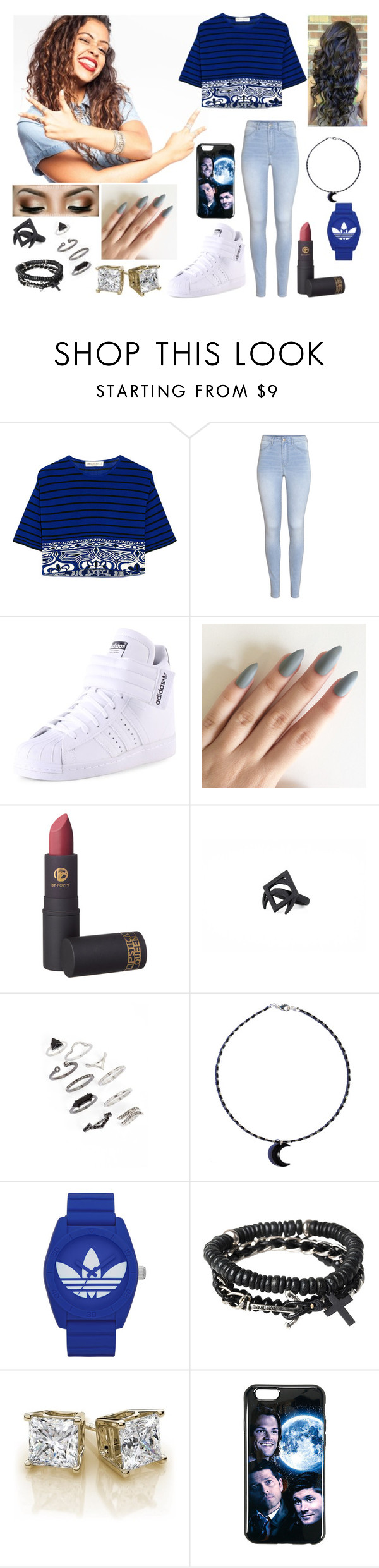 """""""Meeting Liza Koshy"""" by originalmrsmalfoy1 ❤ liked on Polyvore featuring Emilio Pucci, H&M, adidas, Lipstick Queen, Topshop and Icon"""