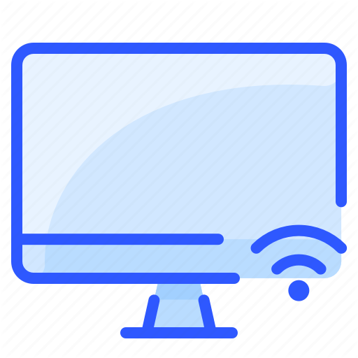 Display Monitor Network Smart Tv Wifi Icon Download On Iconfinder Wifi Icon Wifi Networking