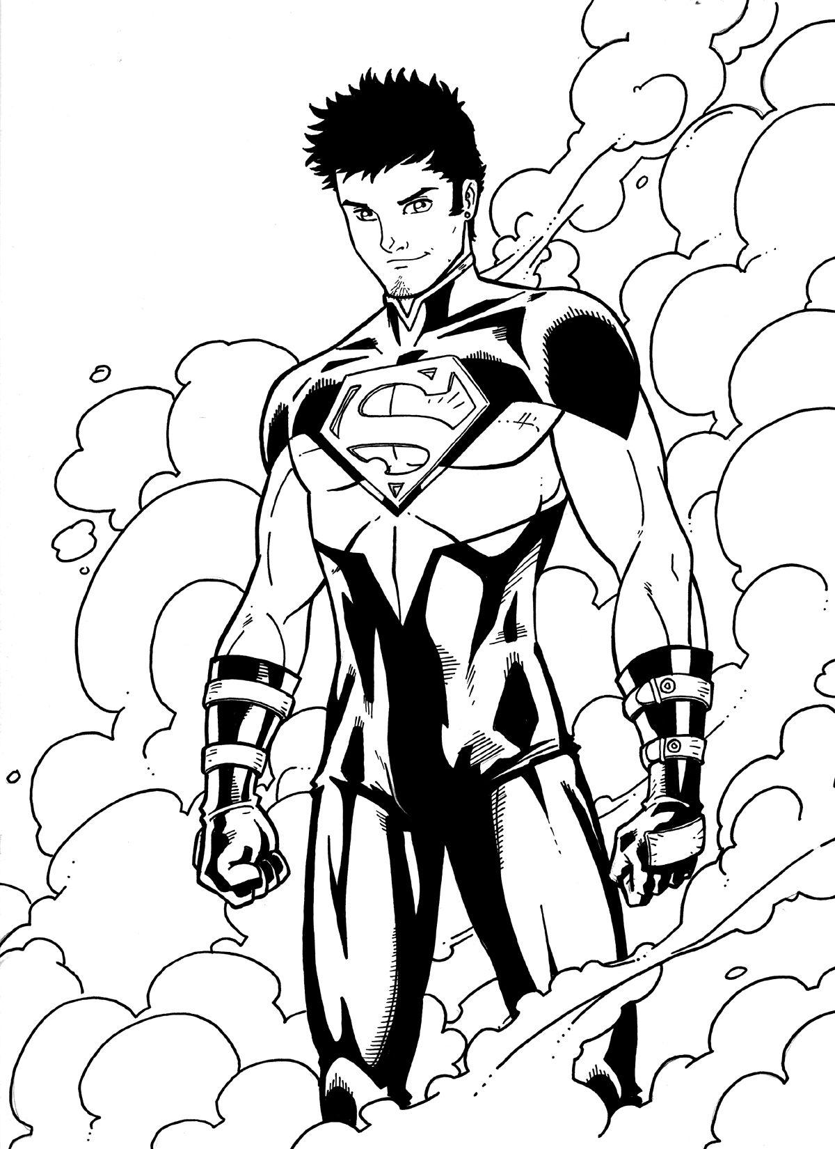 superboy returns by jamiefayx on deviantart coloring 4 kids dc