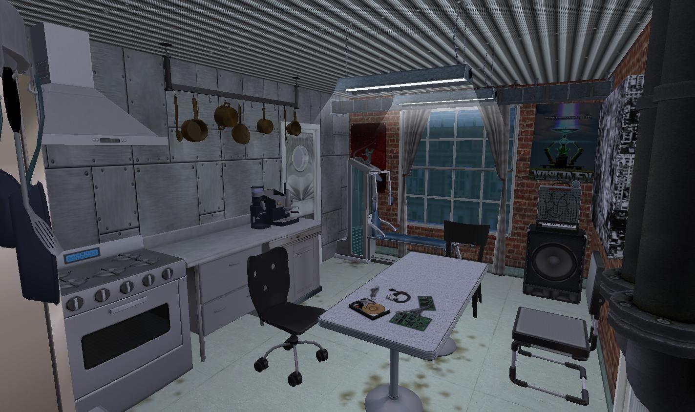 Mod The Sims Cyberpunk BioLab + Home Business NO CC