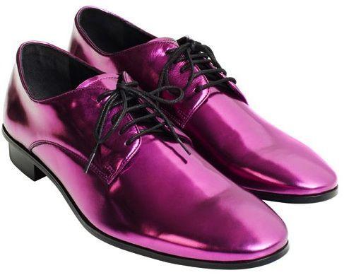 Derby purple shoes | Dress shoes men