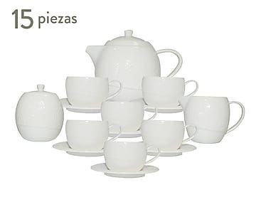 Juego de té en porcelana Garden - 15 piezas