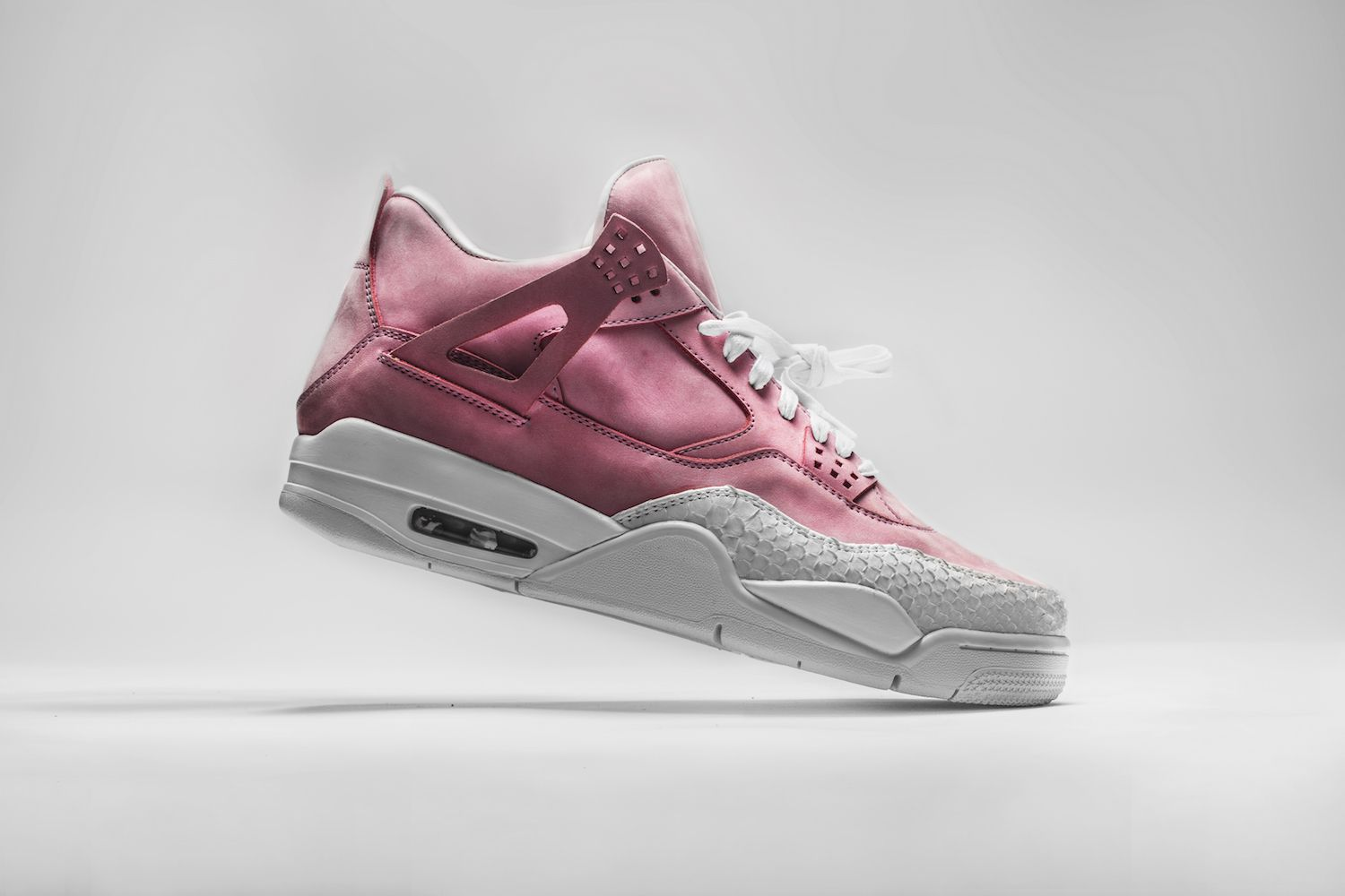 "8c34c50efd6 The Shoe Surgeon Drapes the Air Jordan 4 in Luxe ""French Rose"""