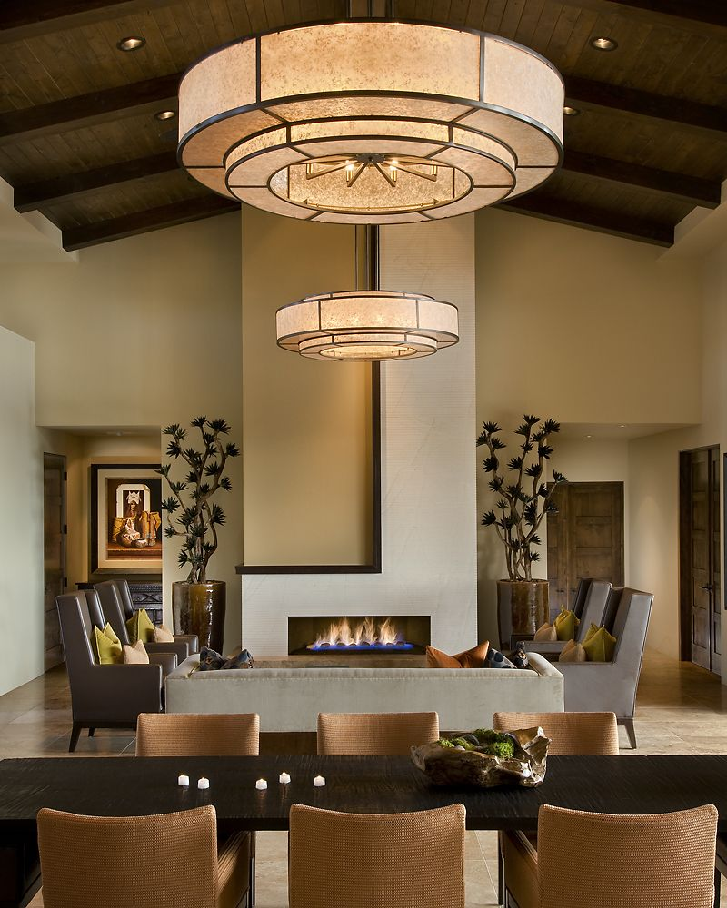 modern spanish house dining room and living room | home