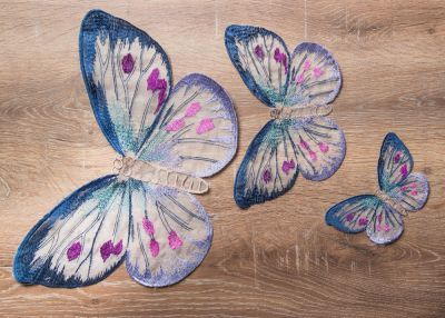 Naturale Kelebek Motifi (41010515/101) Mor  #homesweethome #kelebek #colorful