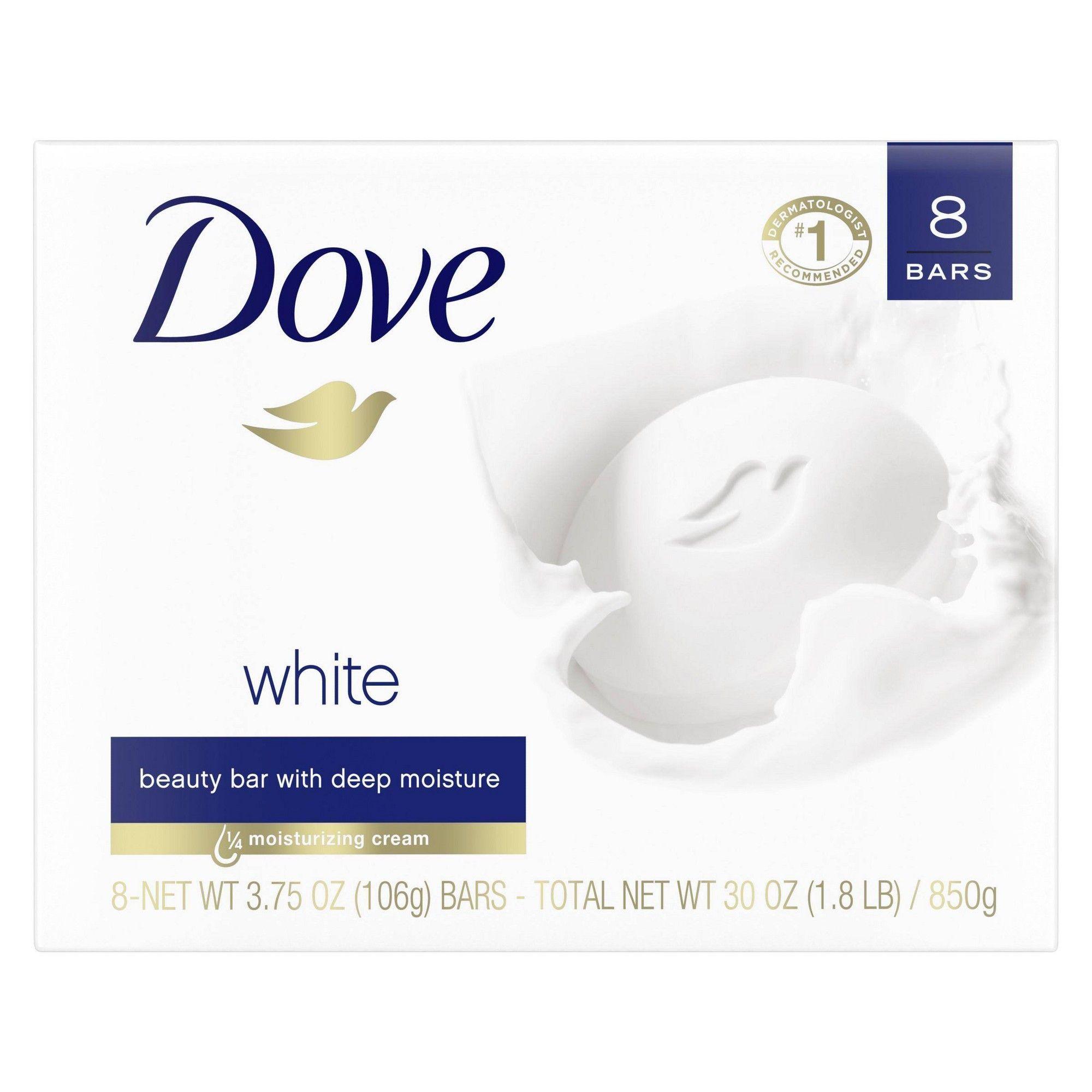 Dove Beauty Bar White 4oz/8pk Beauty bar, Dove bar