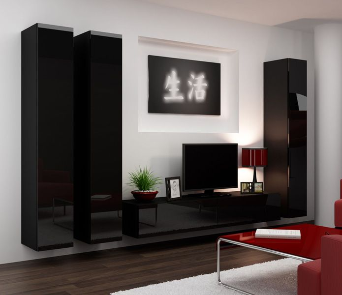 Seattle 8 Modern wall units, Living room wall units and Modern wall