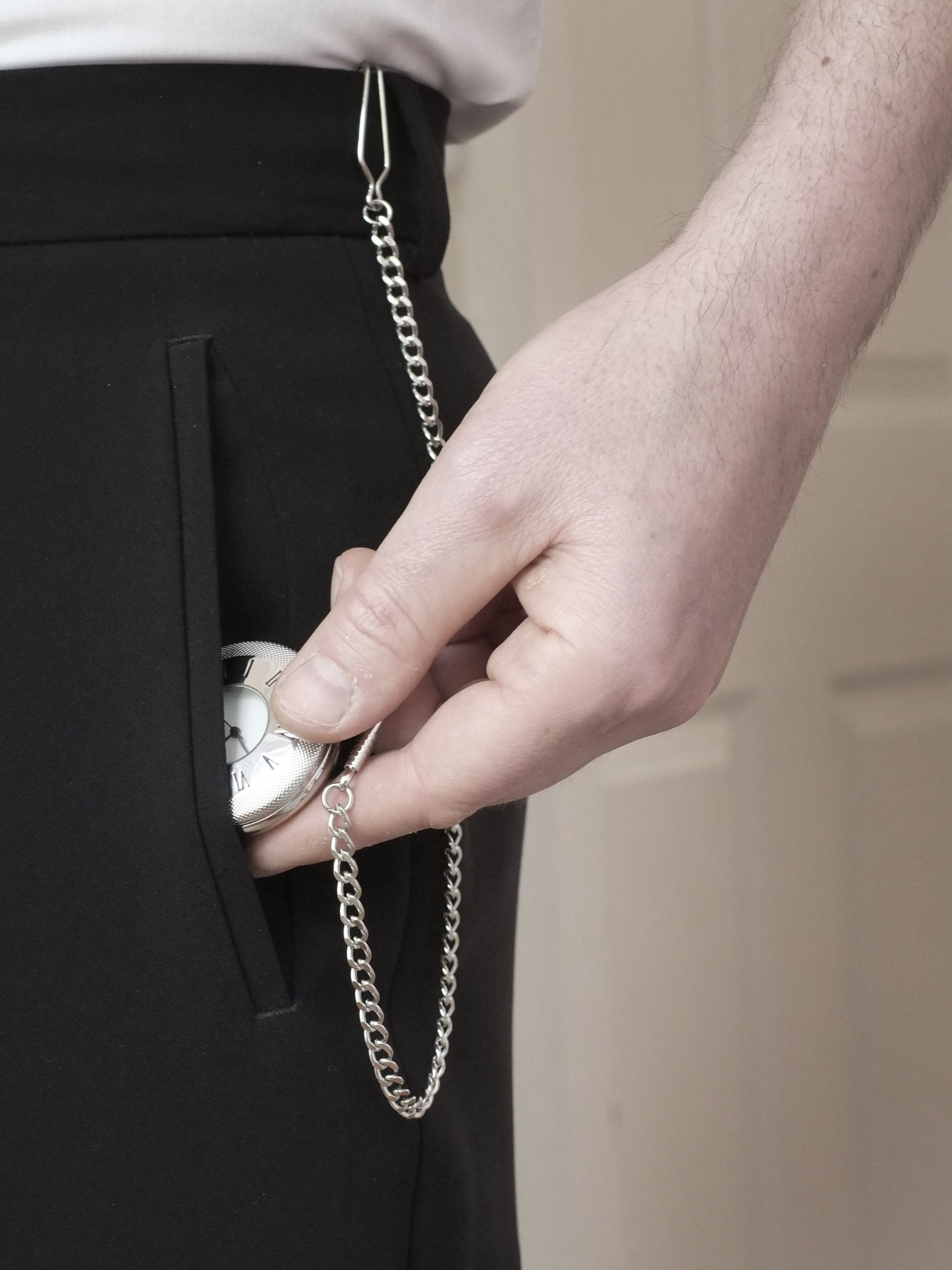 Watch pocket and chain how to wear