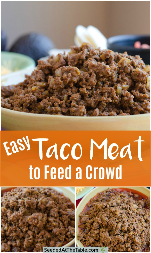 Ground Beef Taco Meat That Feeds A Crowd Or Freeze For Later Recipe Tacos Beef Meat For A Crowd Taco Meat