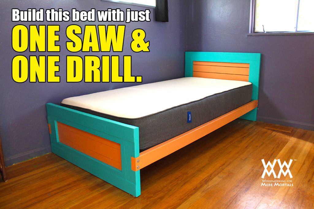 Build A Bed With Limited Tools And Limited Space Twin Size Bed Frame Built In Bed Bed