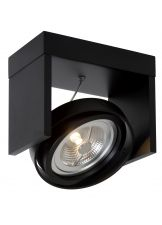 Lucide Plafondspot Zett 1 - Dimbare LED - Zwart