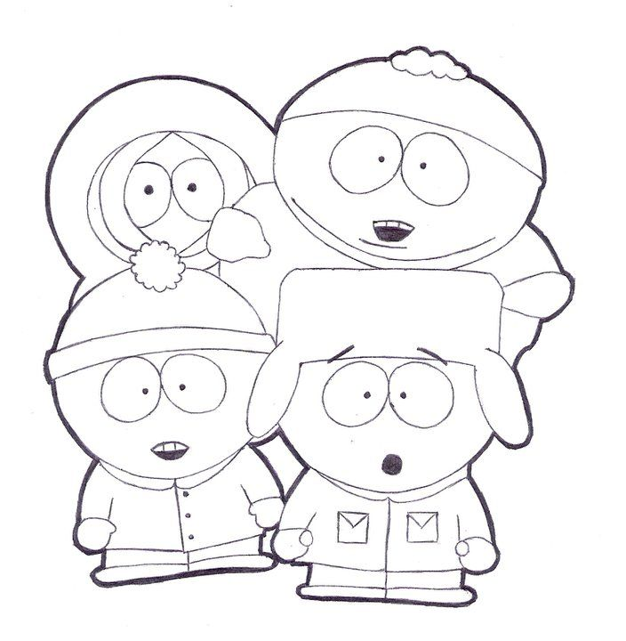 South park coloring pages to print | Coloring Pages | Adult Cartoon ...