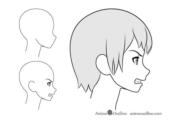 Drawing Facial Expression In 2020 Anime Drawings Anime Side View Side View Drawing