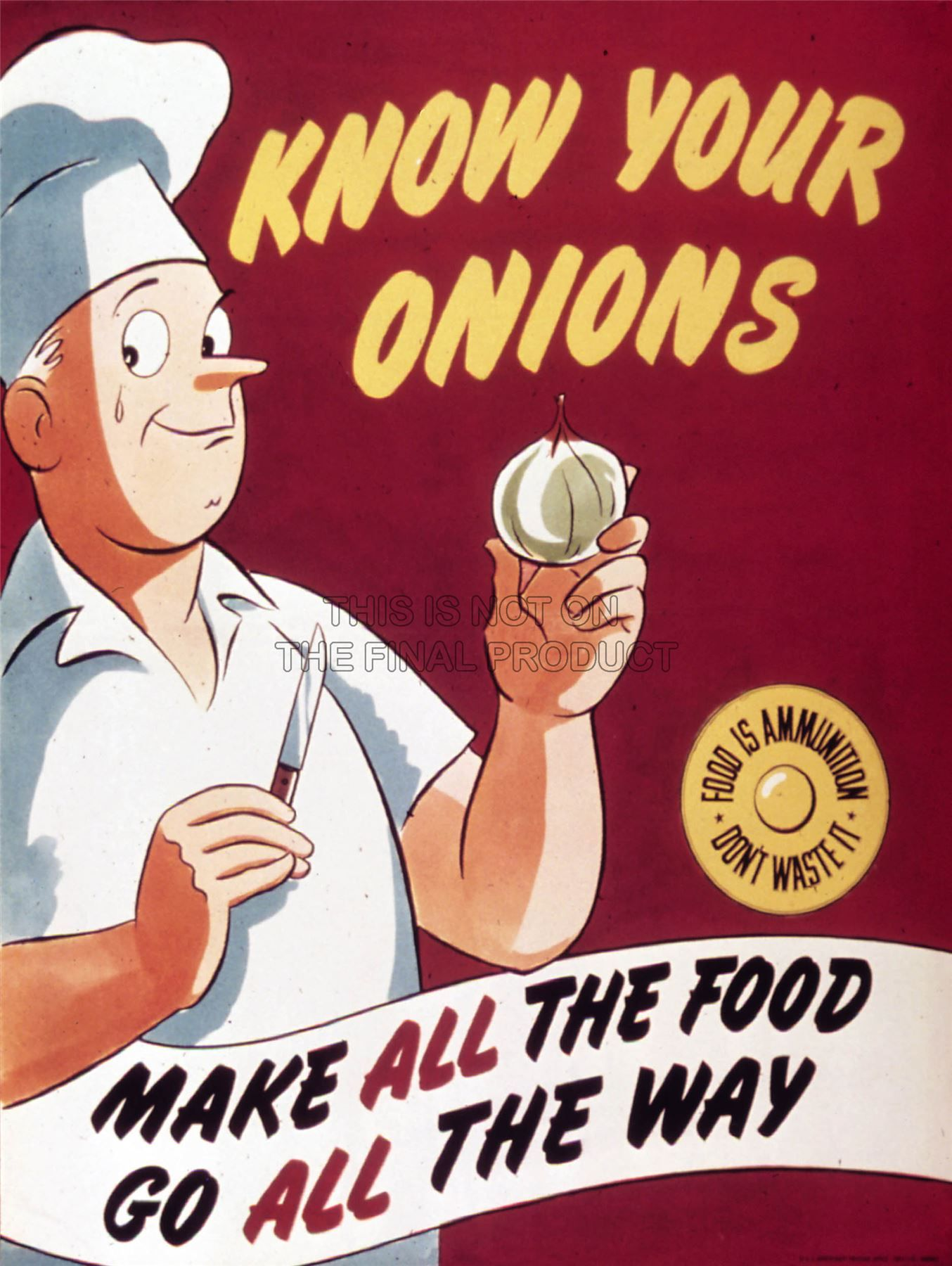 PROPAGANDA-WAR-WWII-USA-ONION-CHEF-SAVE-FOOD-FINE-ART-PRINT-POSTER-BB8323B