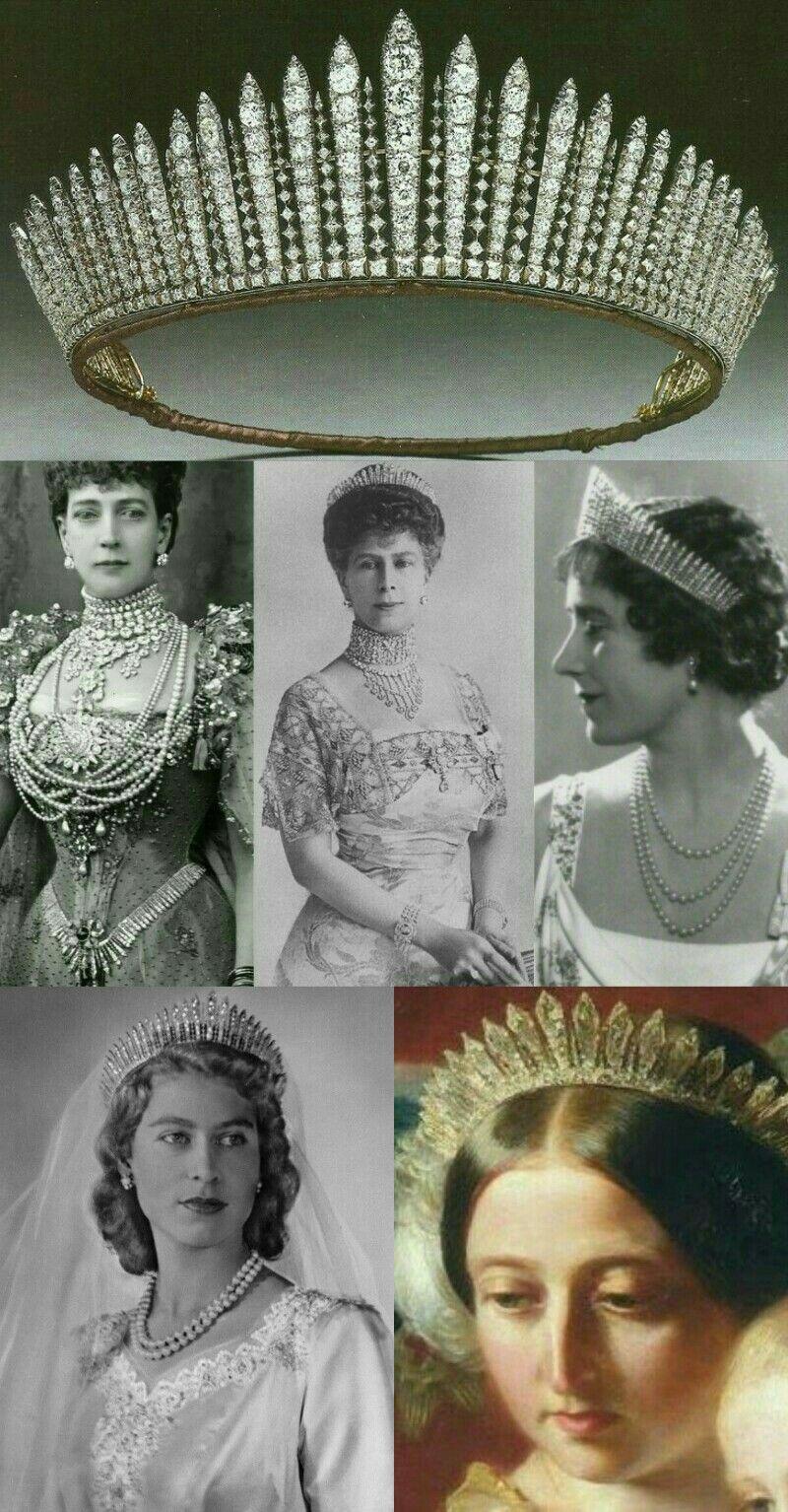Reine Victoria Et Elisabeth 2 : reine, victoria, elisabeth, Tiara, Fringe:Reina, Victoria,, Reina, Alexandra(desmontada),, Mary,Reina, Elizabeth,, Elizabeth, British, Crown, Jewels,, Royal, Jewelry