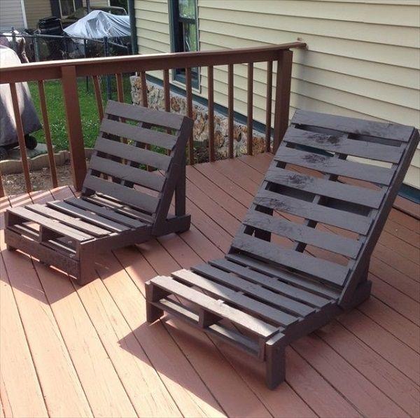 ideas muebles de exterior hechos con palets