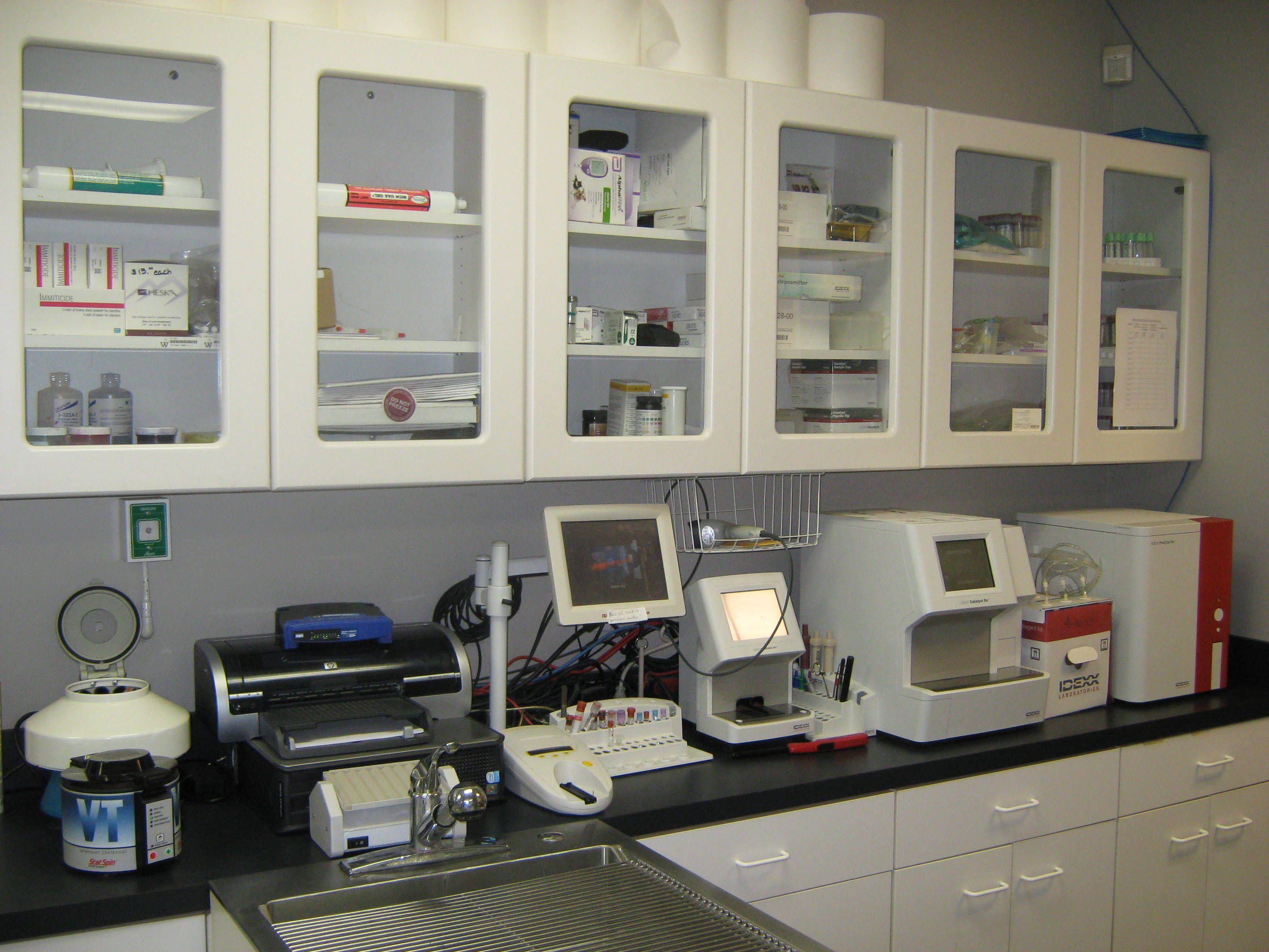 Lineberger veterinary hospital lab station veterinary
