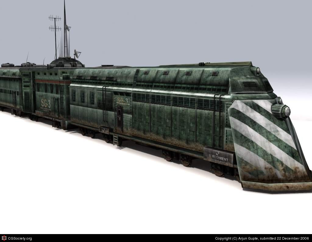 Armored Train-Steampunk design by Arjun Gupte | 3D | CGSociety