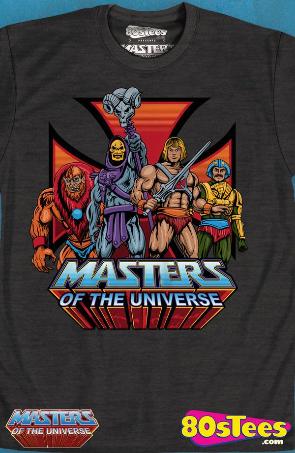 Masters of the Universe T-Shirt: Masters of the Universe Mens T-Shirt The popular celebrities in MOTU history. Designed and skillfully illustrated work of art from the 1980s. Great men's fashion t-shirt.