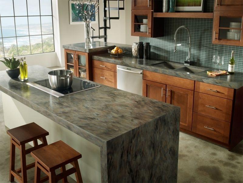 Fake Butcher Block Countertop Refinishing Refinish Wooden Kitchen