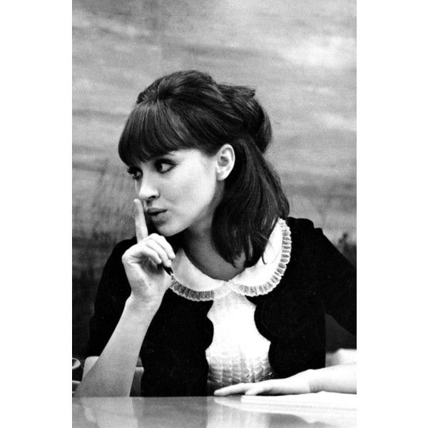Film - Anna Karina , Alphaville , Jean-Luc Godard , 1965. ❤ liked on Polyvore featuring jeans